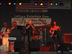 Bending the blues from the main stage at the Nex Perce County Fair!